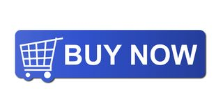 Koop nu Blauw Royalty-vrije Stock Fotografie
