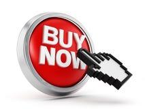 Koop nu blauwe knoop vector illustratie