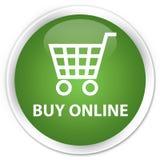 Koop online premie zachte groene ronde knoop Royalty-vrije Stock Fotografie