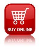 Koop online speciale rode vierkante knoop Stock Fotografie