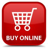 Koop online speciale rode vierkante knoop Stock Afbeelding