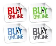 Koop online stickers Royalty-vrije Stock Foto's