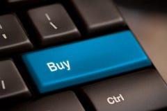 Koop sleutel in plaats van ingaan sleutel stock fotografie
