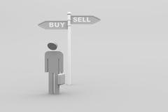 Koop verkoop of? Stock Afbeeldingen