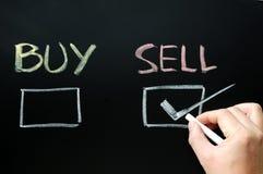 Koop of verkoop controledozen Stock Afbeelding