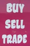 Koop-verkoop handel Royalty-vrije Stock Foto's