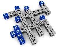 Koop-verkoop huis en hypotheek Royalty-vrije Stock Afbeeldingen