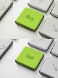 Koop-verkoop Sleutel Royalty-vrije Stock Afbeelding