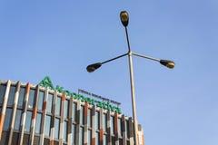 Kooperativa - het embleem van de de Verzekeringsgroep van Wenen op de bouw van Kernkarlin van het Tsjechische hoofdkwartier op 31 Stock Fotografie
