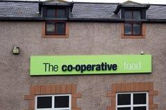 Kooperatywny karmowy sklep w Eyemouth w Szkocja UK 07 08 2015 Zdjęcie Royalty Free