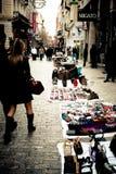 Koopwaar op verkoop in Athene Stock Afbeelding