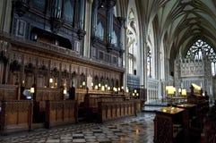 Koor, Bristol Cathedral, Engeland, het Verenigd Koninkrijk royalty-vrije stock afbeeldingen