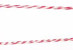 Koord rood en wit als kader royalty-vrije stock foto