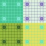 koordinerande fyrkanter för färg Royaltyfri Bild