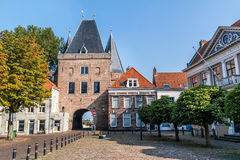 Koornmarkt gate in Kampen, Netherlands Royalty Free Stock Photos