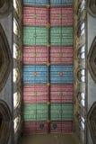 Koorplafond van Kerk van de de Munster de Heilige Drievuldigheid van Hull, Kingston op stock foto