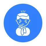Koortspictogram Enig ziek pictogram van grote ziek, ziekte stock illustratie