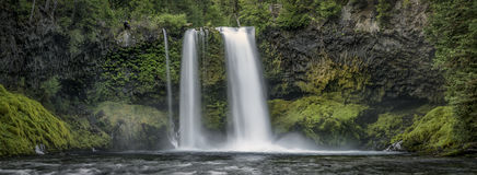 Koosah Falls Waterfall - Willamette National Forest - Oregon. The cleanest air I`ve ever breathed Stock Image