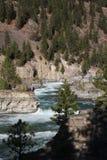 Wild Kootenai River Falls in Northwestern Montana. The Kootenai Falls in Northwestern Montana. the River of the Kootenai flows through rugged rocks cut by time royalty free stock photos