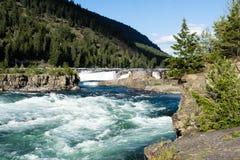 Kootenai nedgångar i nordliga Montana, USA royaltyfria foton