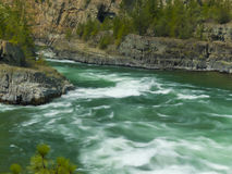 The Kootenai River Below the Falls outside Libby, Montana Royalty Free Stock Image