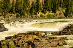 Kootenai River Flows Freely During the Spring Runoff stock photography