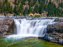 The Kootenai River- South Falls outside Libby, Montana Stock Photo