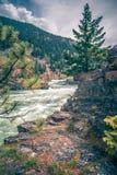 Kootenai river water falls in montana mountains. Kootenai river water falls in montana  mountains Stock Photos