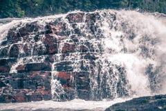 Kootenai river water falls in montana mountains Stock Photos