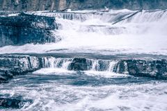 Kootenai river water falls in montana mountains. Kootenai river water falls in montana  mountains Stock Photo