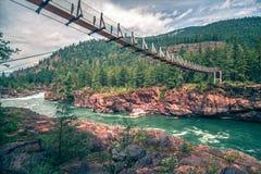 Kootenai river water falls in montana mountains. Kootenai river water falls in montana  mountains Stock Images