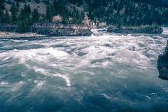 Kootenai river water falls in montana mountains. Kootenai river water falls in montana  mountains Royalty Free Stock Photography
