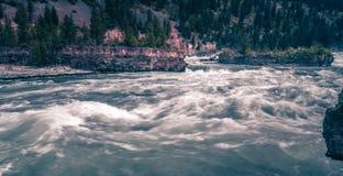 Kootenai river water falls in montana mountains. Kootenai river water falls in montana  mountains Royalty Free Stock Image
