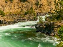 Kootenai Rzeczni gwałtowni blisko Libby, Montana zdjęcia royalty free