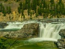 Kootenai rzeki spadków gwałtowni blisko Libby, Montana obraz royalty free