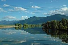 Kootenay河, BC加拿大。 库存照片