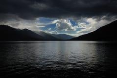 kootenay jeziorna burza Zdjęcia Royalty Free