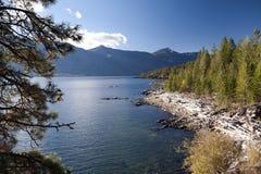 Kootenay Lake and mountains, British Columbia Stock Photo