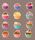 Kop-cake stickers royalty-vrije illustratie