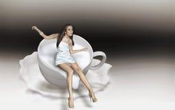 Kop cappuccino's Royalty-vrije Stock Foto's