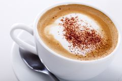 Kop cappuccino's Royalty-vrije Stock Foto