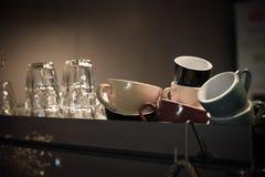 Kop en Glaskoffie Royalty-vrije Stock Afbeelding