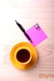 Kop en kladpapier Stock Foto's