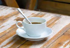 Kop en koffie Royalty-vrije Stock Foto's