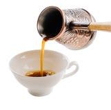 Kop en koffie Turk Stock Fotografie