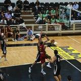 Kop FIBA Trentino: Portugal versus Nieuw Zeeland royalty-vrije stock foto