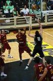 Kop FIBA Trentino: Portugal versus Nieuw Zeeland stock foto