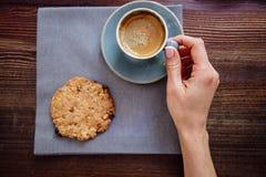 Kop koffie en koekjes royalty-vrije stock fotografie