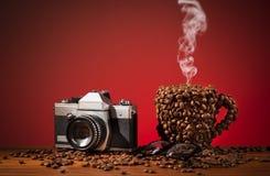 Kop koffiebonen Royalty-vrije Stock Foto's