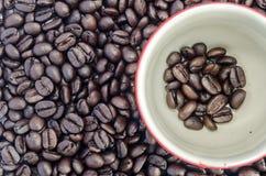 Kop koffiebonen Royalty-vrije Stock Afbeelding